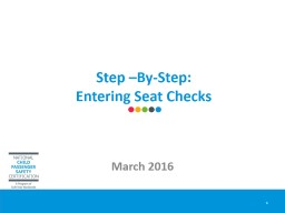 Step –By-Step:  Entering Seat Checks