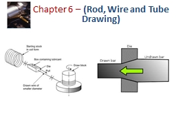 Chapter 6 –  (Rod, Wire and Tube Drawing)