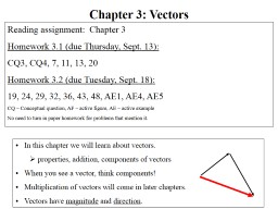 In this chapter we will learn about vectors.