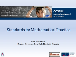 Standards for Mathematical Practice PowerPoint PPT Presentation