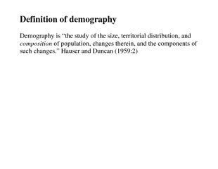 Definition of demography Demography is the study of th