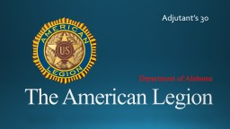 The American Legion Department of Alabama
