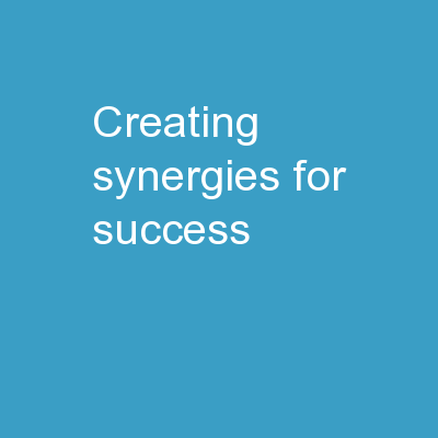 Creating Synergies for Success