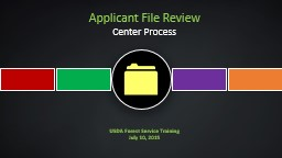Applicant File Review Center Process