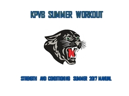 KPVB SUMMER WORKOUT STRENGTH AND CONDITIONING SUMMER