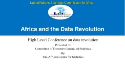 Africa and the Data Revolution