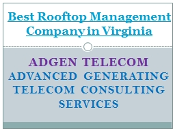 Best Rooftop Management Company in Virginia