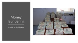 Money laundering A guide for Real Estates