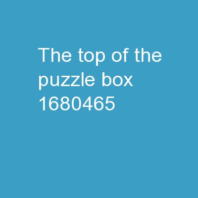The Top of the Puzzle Box