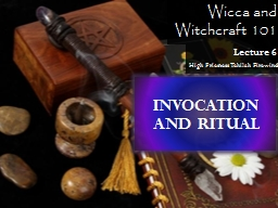 Wicca and  Witchcraft 101