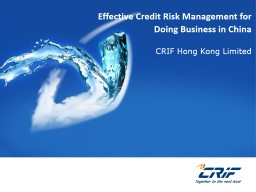 Effective Credit Risk Management for Doing Business in China