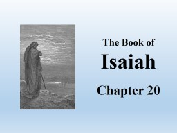 The Book of Isaiah Chapter 20