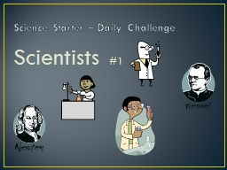 Science Starter – Daily Challenge
