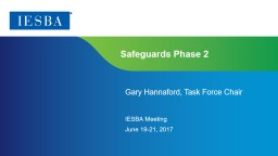 Safeguards Phase 2 Gary Hannaford, Task Force Chair