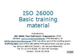 ISO 26000 Basic  training