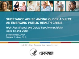High-Risk Alcohol and Opioid Use Among Adults Ages 55 and Older
