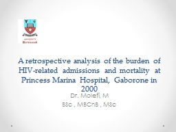 A retrospective analysis of the burden of HIV-related admissions and mortality at Princess Marina H