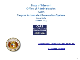 1 State of Missouri Office of Administration
