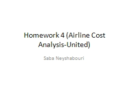 Homework 4 (Airline Cost Analysis-United)