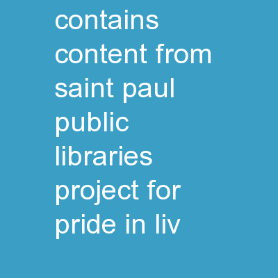 Facebook 101 This class contains content from Saint Paul Public Libraries, Project for Pride in Liv