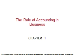 The Role of Accounting in Business