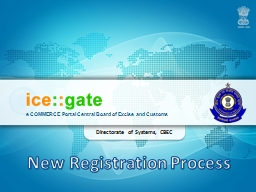 e COMMERCE Portal Central Board of Excise and Customs