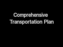 Comprehensive Transportation Plan