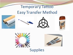 Temporary Tattoo Easy Transfer Method