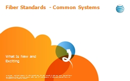 Fiber Standards - Common Systems