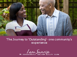 The Journey to ' Outstanding'- one