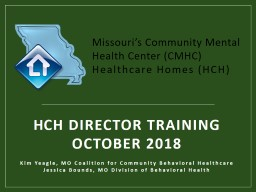 H CH Director Training October 2018