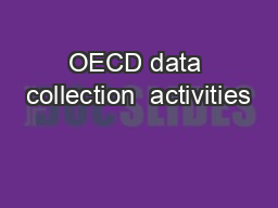 OECD data collection  activities