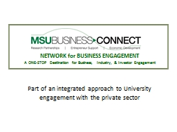 NETWORK for BUSINESS ENGAGEMENT