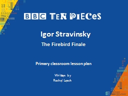 Igor Stravinsky The Firebird Finale