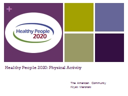 Healthy People 2020: Physical Activity