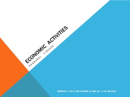 ECONOMIC ACTIVITIES Personal Finance