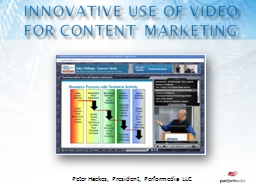 Innovative use of video for content marketing