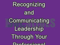 A New Brand You - Recognizing and Communicating Leadership Through Your Professional Brand Values