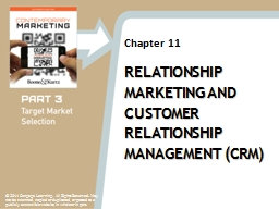 Relationship Marketing and Customer