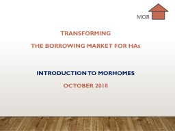 Transforming the BORROWING MARKET FOR ha