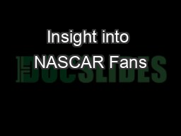 Insight into NASCAR Fans