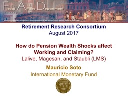 Retirement Research Consortium