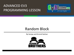 Random Block By Sanjay and Arvind
