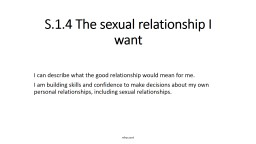 S.1.4 The sexual relationship I want