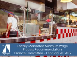 Locally Mandated Minimum Wage