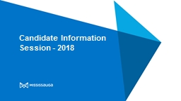 Candidate Information Session - 2018