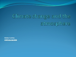 Climate change and the atmosphere
