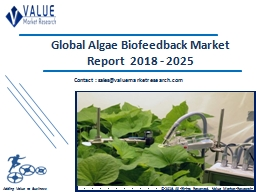 Algae Biofeedback Market Size, Share & Industry Forecast Research Report, 2025