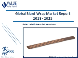Blunt Wrap Market Size, Share & Industry Forecast Research Report, 2025