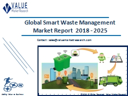 Smart Waste Management Market Size, Share & Industry Forecast Research Report, 2025